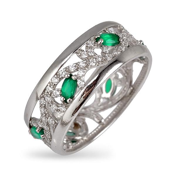Купить Серебряное кольцо с агатом и фианитом 1-350-2A, Sandara Ice