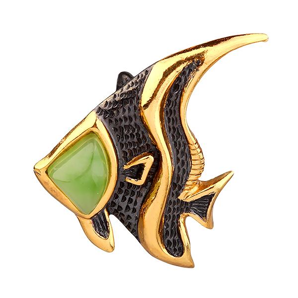 Серебряный с позолотой кулон с нефритом 73801098n, Нефрит  - купить со скидкой