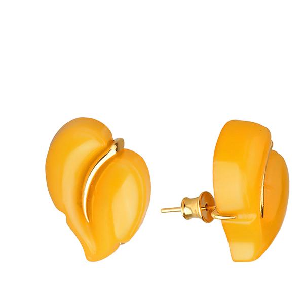 Купить Серебряные серьги с позолотой с янтарём 821230paw, Янтарь