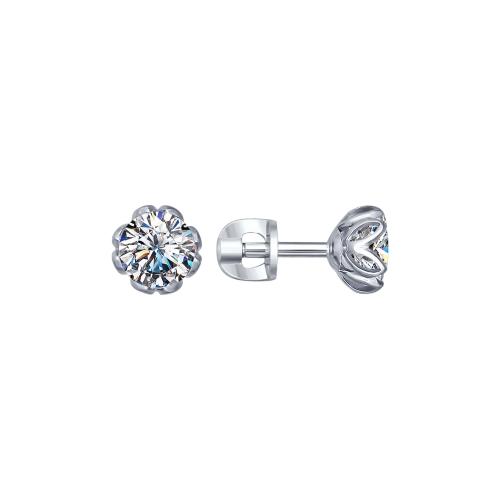 Купить Серебряные серьги SOKOLOV 89020026