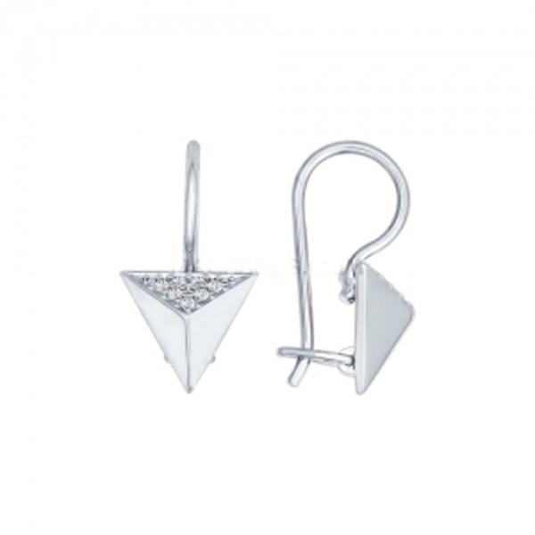 Купить Серебряные серьги с фианитами 94022112, SOKOLOV