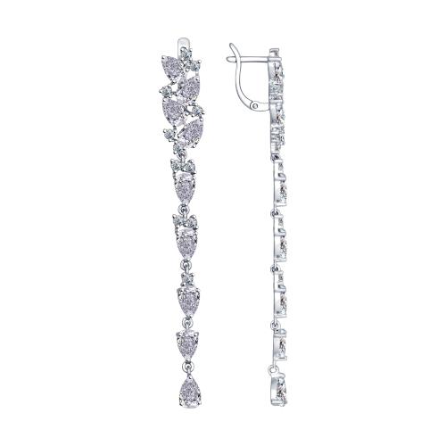 Купить Серебряные серьги SOKOLOV с фианитами 94022375