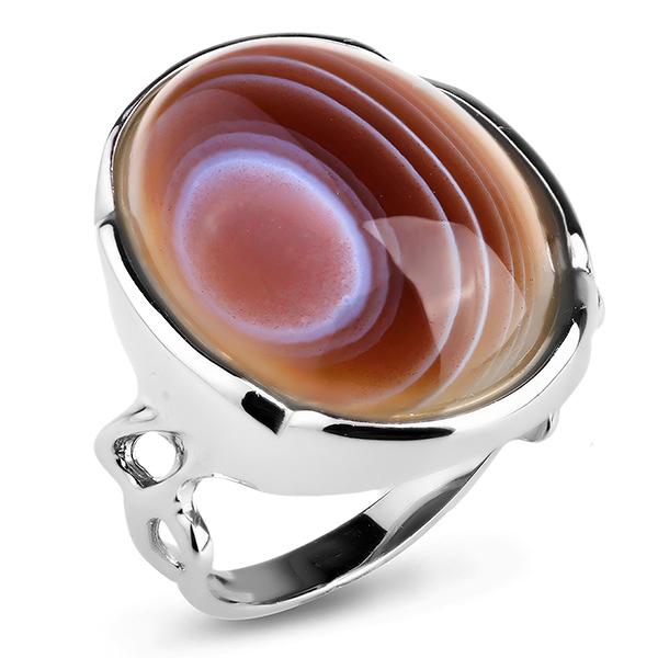 Купить Серебряное кольцо Sandara c ботсванским агатом ADR031