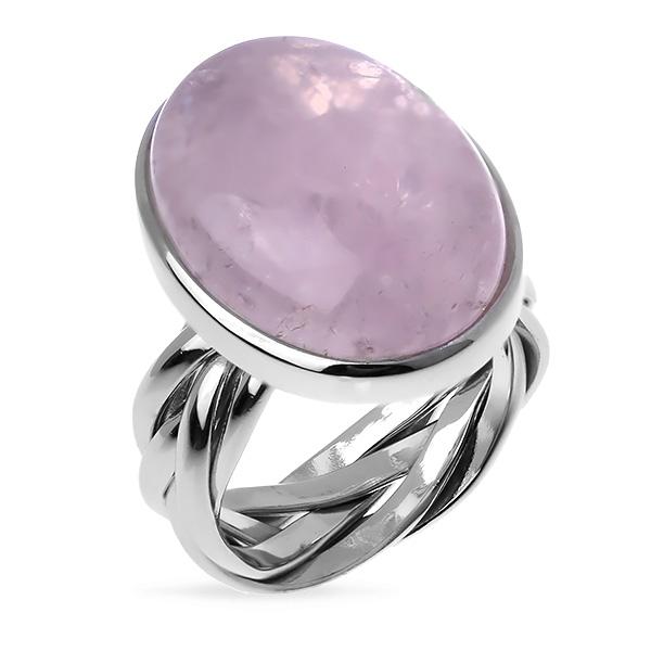Серебряное кольцо Sandara с розовым кварцем ADR127  - купить со скидкой