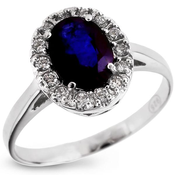 Купить Серебряное кольцо Sandara с сапфиром и фианитами ANR1183S, Sandara сапфиры