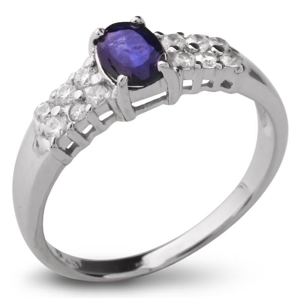 Купить Серебряное кольцо Sandara с сапфиром и фианитами ANR1217, Sandara сапфиры