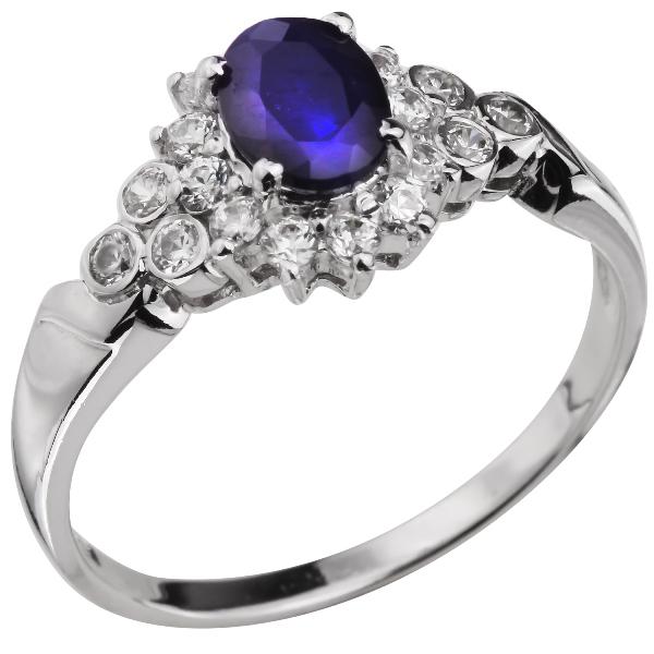 Купить Серебряное кольцо Sandara с сапфиром и фианитами ANR1299, Sandara сапфиры