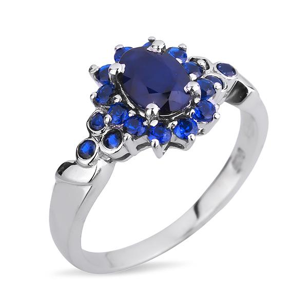 Купить Серебряное кольцо Sandara с сапфиром и синими фианитами ANR1299bl, Sandara сапфиры