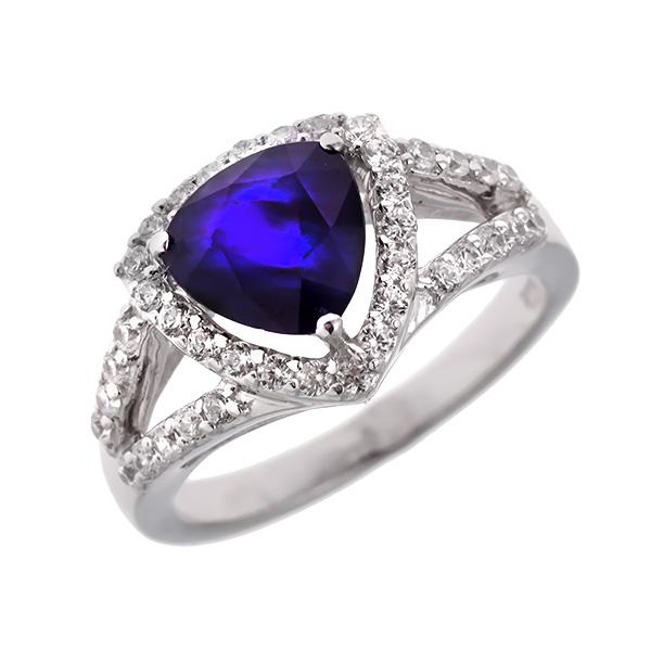 Купить Серебряное кольцо Sandara с сапфиром и фианитами ANR1493, Sandara сапфиры