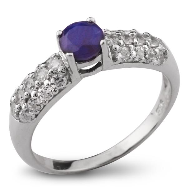 Купить Серебряное кольцо Sandara с сапфиром и фианитами ANR1496, Sandara сапфиры