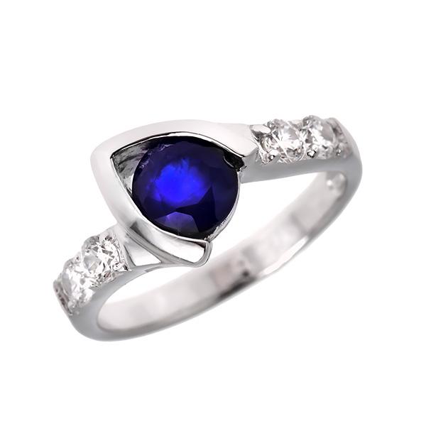 Купить Серебряное кольцо Sandara с сапфиром и фианитами ANR1540, Sandara сапфиры