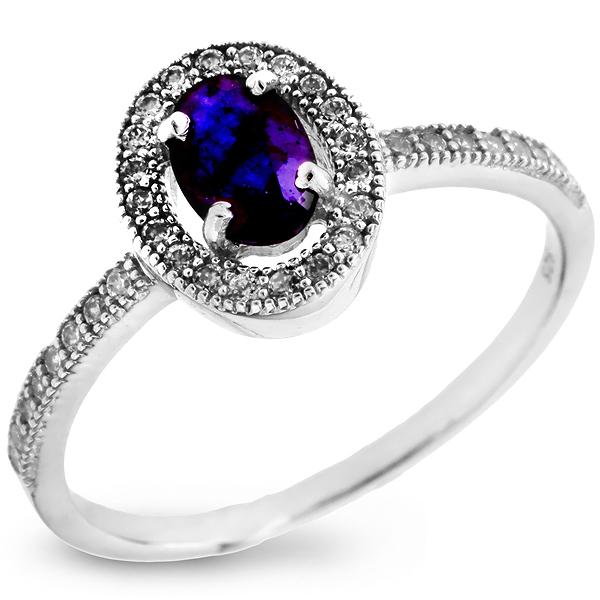 Купить Серебряное кольцо Sandara с сапфиром и фианитами ANR1568, Sandara сапфиры