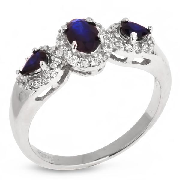 Купить Серебряное кольцо Sandara с сапфиром и фианитами ANR1606, Sandara сапфиры