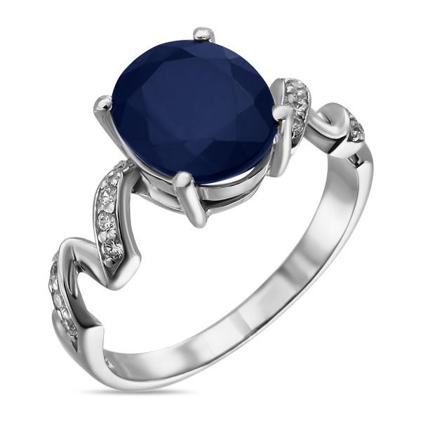 Купить Серебряное кольцо Sandara с сапфиром и фианитами ANR1649, Sandara сапфиры