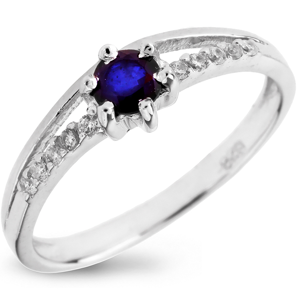Купить Серебряное кольцо Sandara с сапфиром и фианитами ANR1749, Sandara сапфиры