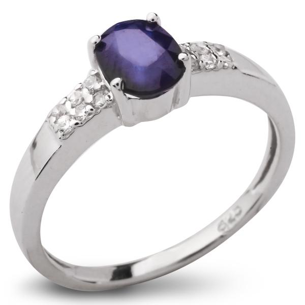 Купить Серебряное кольцо Sandara с сапфиром и фианитами ANR1753, Sandara сапфиры