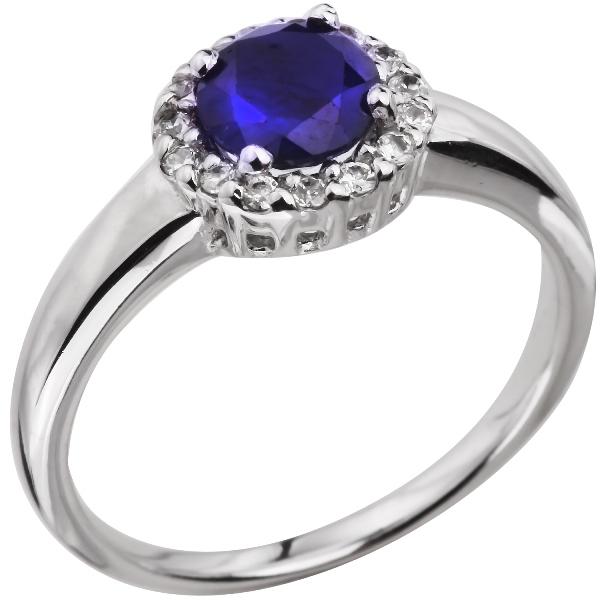 Купить Серебряное кольцо Sandara с сапфиром и фианитами ANR1758, Sandara сапфиры
