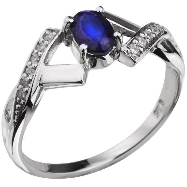 Купить Серебряное кольцо Sandara с сапфиром и фианитами ANR1779, Sandara сапфиры