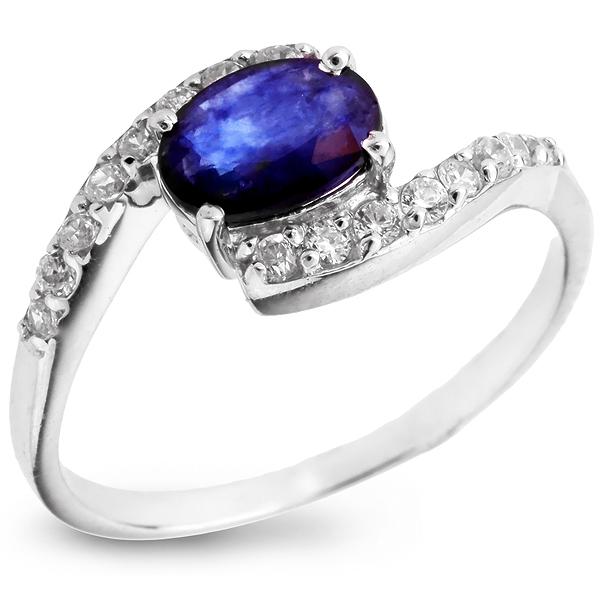 Купить Серебряное кольцо Sandara с сапфиром и фианитами ANR1800, Sandara сапфиры