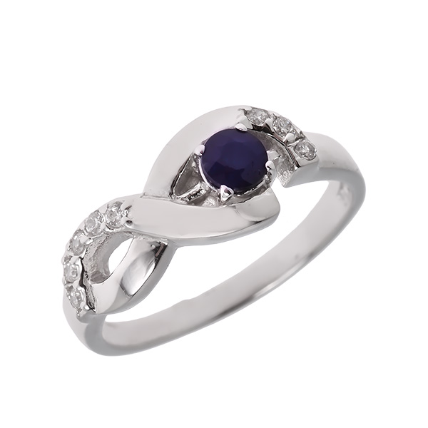 Купить Серебряное кольцо Sandara с сапфиром и фианитами ANR1810, Sandara сапфиры