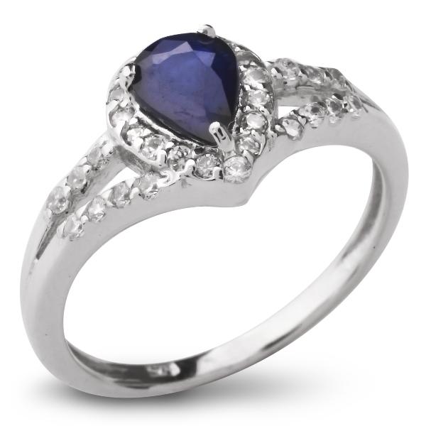 Купить Серебряное кольцо Sandara с сапфиром и фианитами ANR1826, Sandara сапфиры
