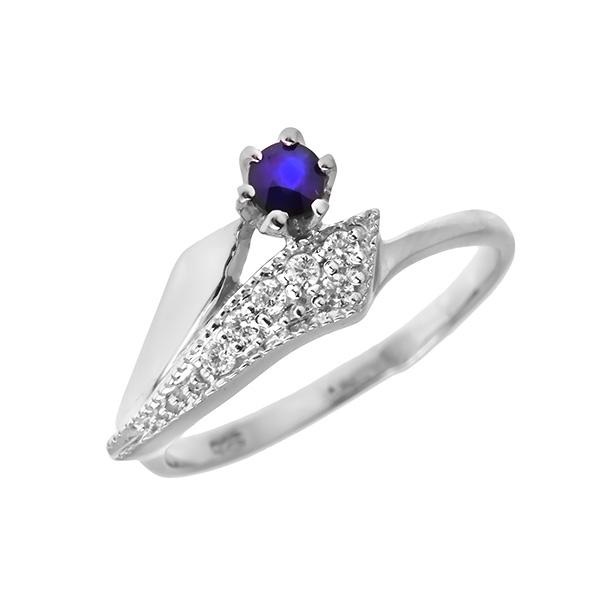 Купить Серебряное кольцо Sandara с сапфиром и фианитами ANR1829, Sandara сапфиры