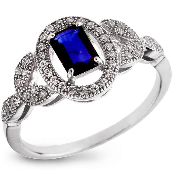 Купить Серебряное кольцо Sandara с сапфиром и фианитами ANR1843, Sandara сапфиры