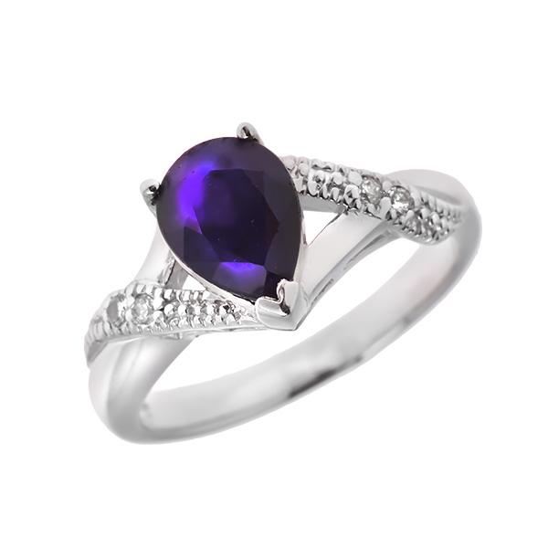 Купить Серебряное кольцо Sandara с сапфиром и фианитами ANR1858, Sandara сапфиры