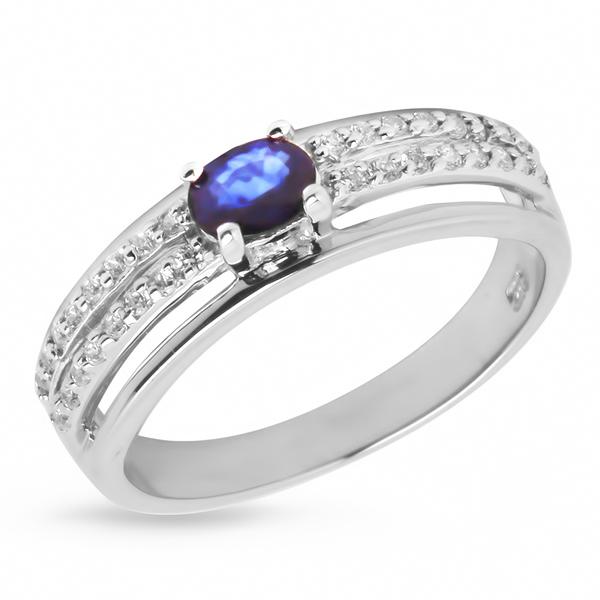 Купить Серебряное кольцо Sandara с сапфиром и фианитами ANR1905, Sandara сапфиры