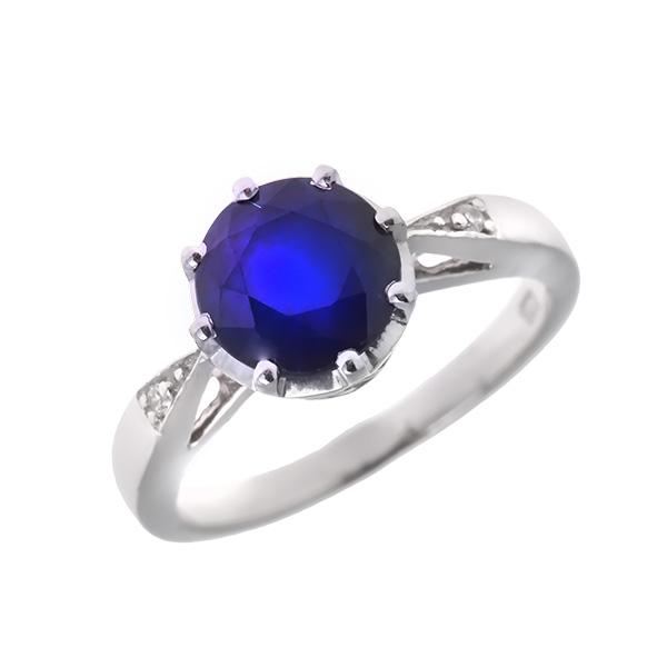 Купить Серебряное кольцо Sandara с сапфиром и фианитами ANR2147, Sandara сапфиры