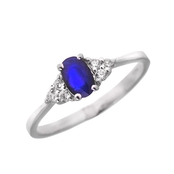 Купить Серебряное кольцо Sandara с сапфиром и фианитами ANR2211, Sandara сапфиры