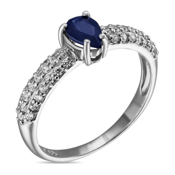 Купить Серебряное кольцо Sandara с сапфиром и фианитами ANR2219, Sandara сапфиры