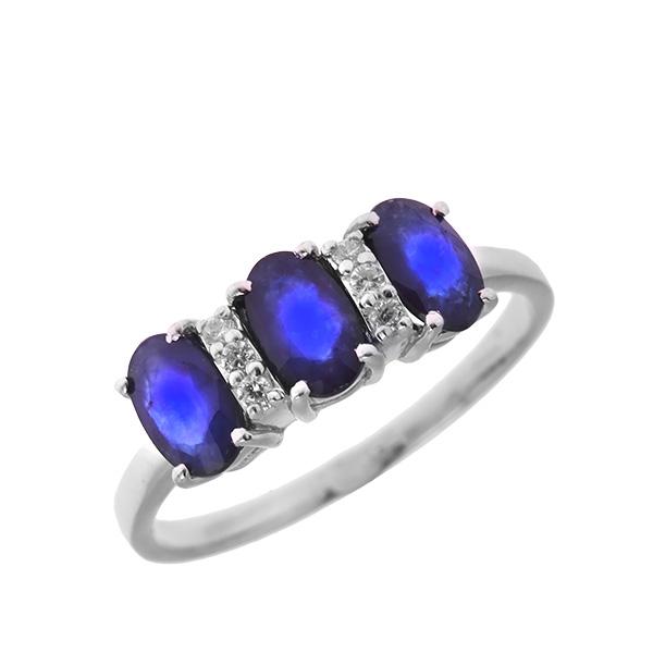 Купить Серебряное кольцо Sandara с сапфиром и фианитами ANR2225, Sandara сапфиры