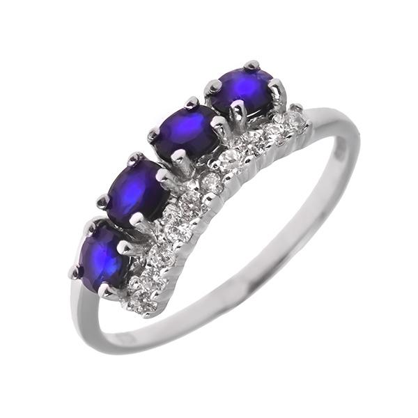 Купить Серебряное кольцо Sandara с сапфиром и фианитами ANR2429, Sandara сапфиры