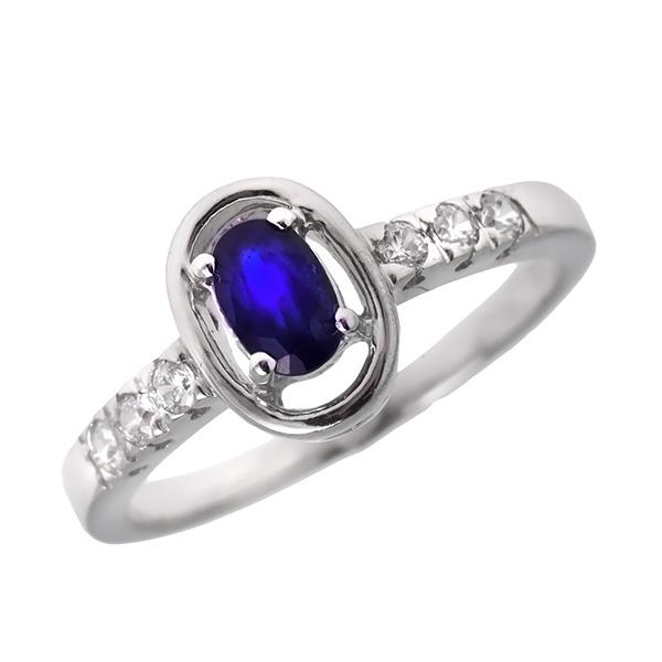 Купить Серебряное кольцо Sandara с сапфиром и фианитами ANR2433, Sandara сапфиры
