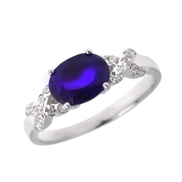 Купить Серебряное кольцо Sandara с сапфиром и фианитами ANR2445, Sandara сапфиры