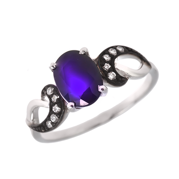 Купить Серебряное кольцо Sandara с сапфиром и фианитами ANR2632, Sandara сапфиры