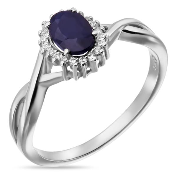 Купить Серебряное кольцо Sandara с сапфиром и фианитами ANR2996, Sandara сапфиры