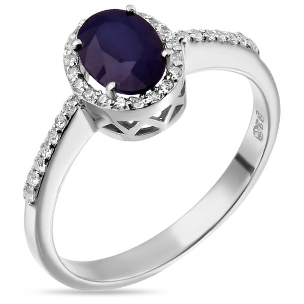 Купить Серебряное кольцо Sandara с сапфиром и фианитами ANR2998, Sandara сапфиры
