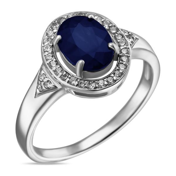 Купить Серебряное кольцо Sandara с сапфиром и фианитами ANR2999, Sandara сапфиры