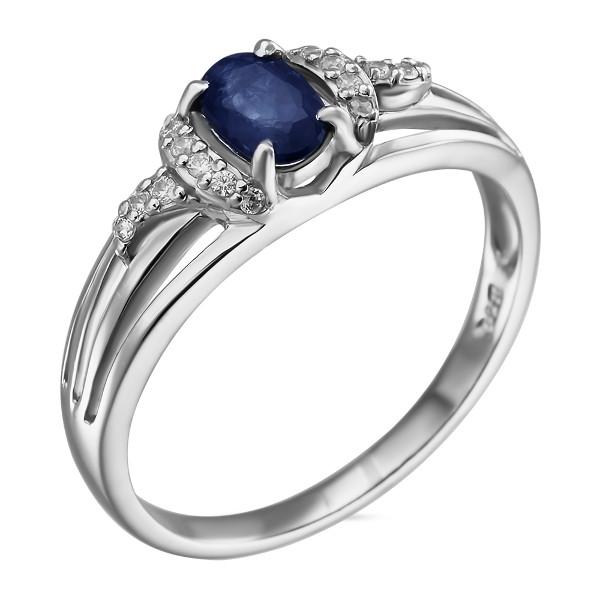 Купить Серебряное кольцо Sandara с сапфиром и фианитами ANR3120, Sandara сапфиры
