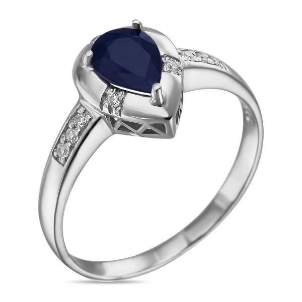 Купить Серебряное кольцо Sandara с сапфиром и фианитами ANR3123, Sandara сапфиры