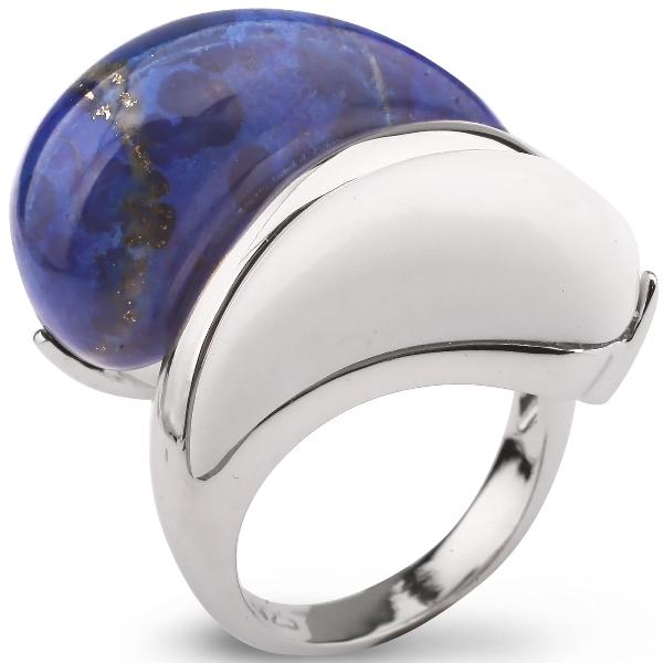 Купить Серебряное кольцо AS с белым агатом и лазуритом ASR0685CH