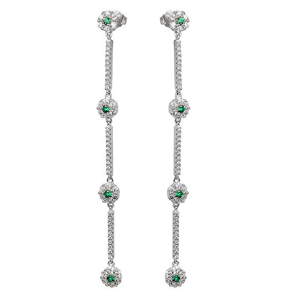 Купить Серебряные серьги Sandara Ice с фианитом CTE070