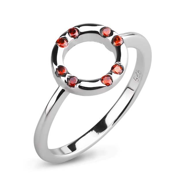 Купить Серебряное кольцо Sandara Ice с фианитами цвета Гранат CTR192