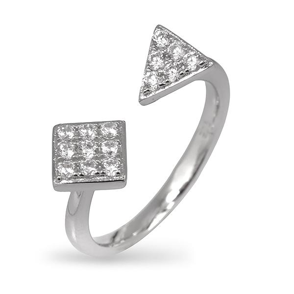 Купить со скидкой Серебряное кольцо Sandara Ice с фианитом EDR018