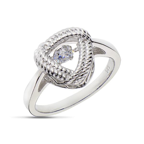 Купить Серебряное кольцо Sandara Ice с танцующим фианитом EDR141