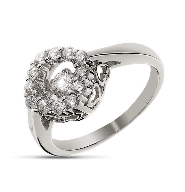 Купить Серебряное кольцо Sandara Ice с танцующим фианитом EDR143