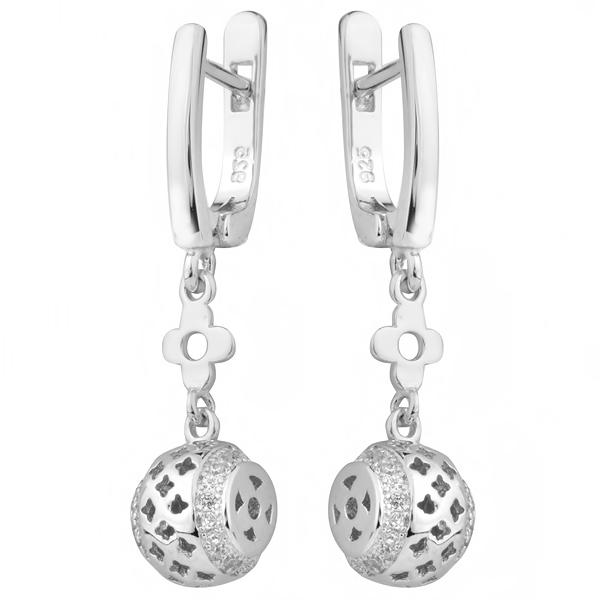 Купить Серебряные серьги Sandara с фианитами IME9087, Sandara Ice
