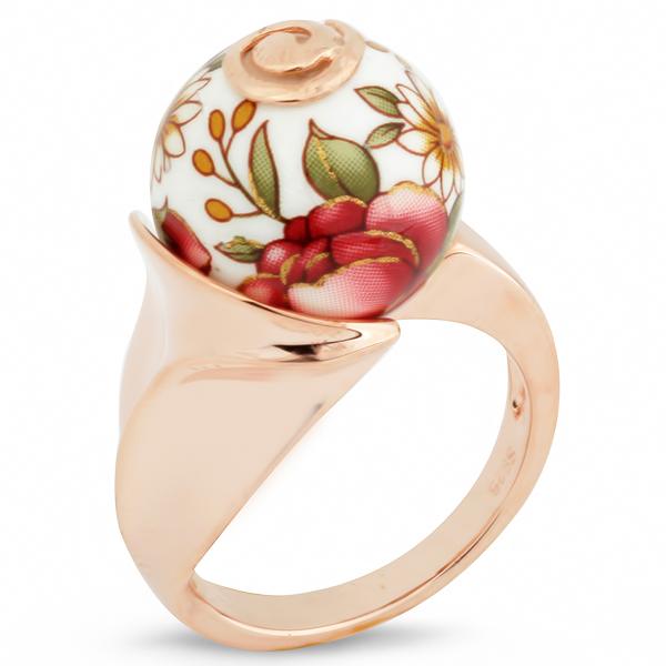 Купить Серебряное кольцо с акрилом JSR0228, Японские цветы